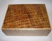 Luxurious Keepsake Box with a Stunning Spalted Maple Top.