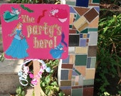 Sleeping Beauty Party Sign - The Party's Here