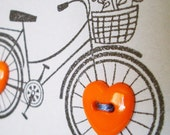 I Heart My Bicycle - Stamped and Sewn Stationery - 4 Cards and Envelopes