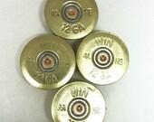 Bullet Magnets / 12 Gauge Brass Shotgun Shell Refrigerator Magnets Set of 4 WIN-12T-BNC-MAG / Refrigerator Magnets / Shotgun Magnets