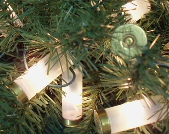 Bullet Lights / 12 Gauge Shotgun Christmas Tree White Lights Party / Shotgun Shell Lights / Shotgun Lights / Christmas Lights / Tree Lights