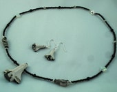 Space Shuttle and Astronaut beaded necklace and earring set