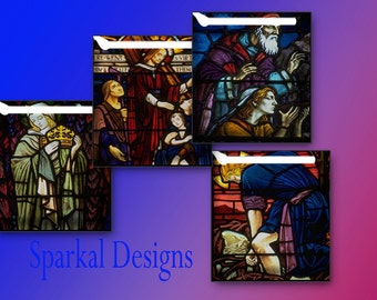 Religious Digital Collage Sheet Stained Glass Window Images   Scrabble Tile sheet 151