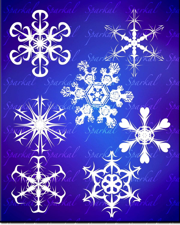 Snowflake clip art christmas clipart printable snow flakes