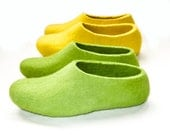 Felted Slippers Mother & Daughter - Two Pairs of Soled Slippers - Choose your Color - Women's sizes - 100% Wool - Mom Gifts - Gifts
