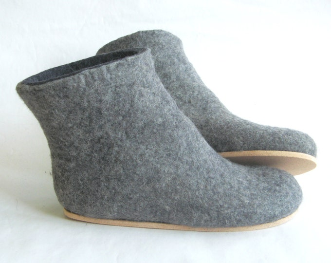 Felt Boots Charcoal Black Womens, Valenki Boots, Snow Boots Outdoor Rubber Soles, Cork Soles, Winter Boots, 5% OFF Coupon Code