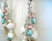Under the Sea Shell and Pearl Earrings