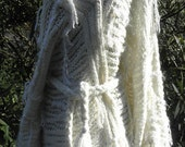 Alpaca blend, handknitted, very soft and sexy oversized sweater offwhite OOAK