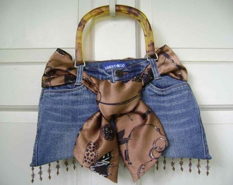 Ladies Recycled Jean Purse