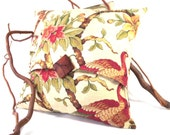 Pillow Cover Bird Foral Tree Branch Pattern