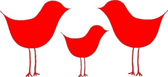 PIF - birdie vinyl decal