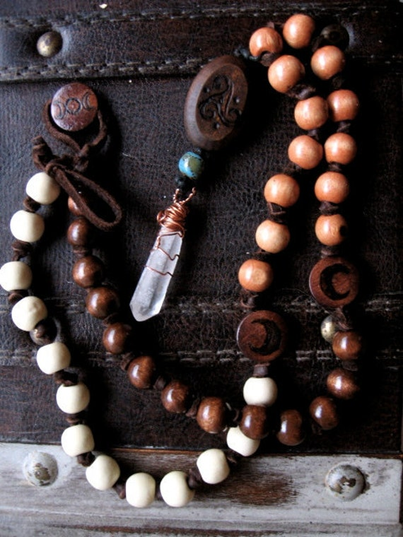 Celtic Triple Goddess Prayer Beads