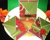 Set of 3- Noel/Poinsettia Tag Cards