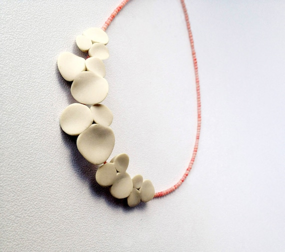 nO.191 'pansies between pink corals' necklace, made to order