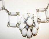 Statement Necklace - White Night