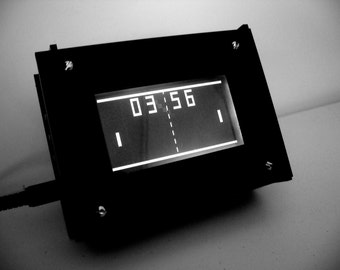 Monochron  Black and White LCD Graphic Clock