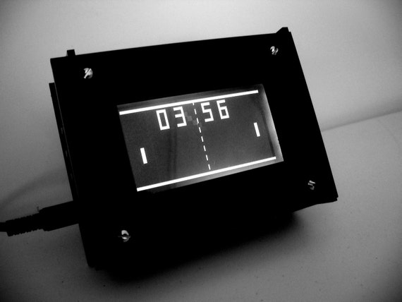 Monochron  Black and White LCD Graphic Clock
