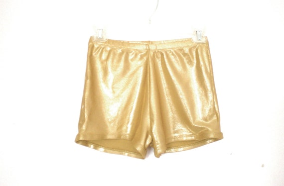 Amazing gold lame high waist hot pants size - S/M- L