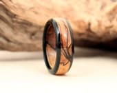 Size 12.5 - Ebony and Spalted Maple Wood Ring