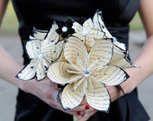 Customized Bridal Bouquet- 12 inch, 20 flowers, made to order, wedding, centerpiece, custom paper flowers, one of a kind origami