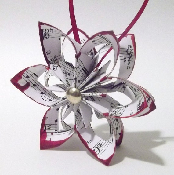 Homemade Paper Christmas Ornaments: Items Similar To Falling Star Paper Christmas Ornament
