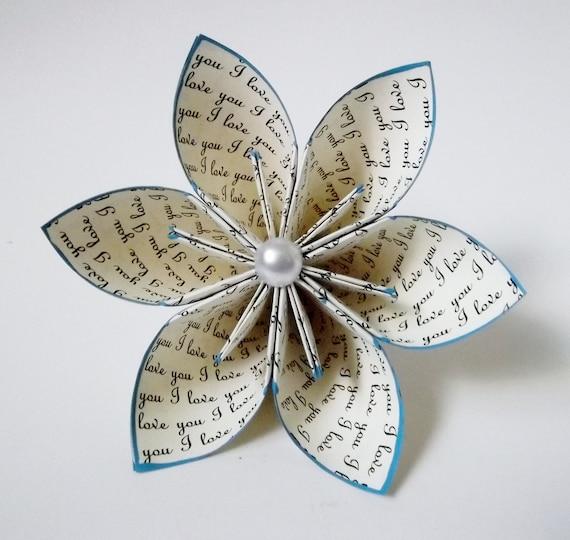 Bien-aimé Je t'aime papier fleurs mariage bouquet cadeau gâteau OB94