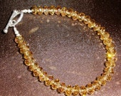 Amber AB Crystal Bead & Sterling Silver Bracelet by Simply Sheila