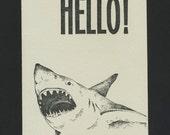 Handmade Letterpress Card / Hello