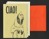 Handmade Letterpress Cards / 3 Pack