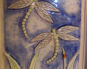 Free Shipping - Beautiful Handbuilt Dragonfly Plaque - Awesome