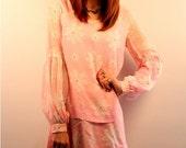Floral Pink 1960s Minidress