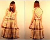 1940's Plaid Summer Dress