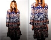 Gorgeous Bell Sleeve Paisley Dress