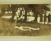 1930s, Human Golf Tee, Bathing Suits , Snapshot, Photo, Photography, Vintage Collectible, Fashion