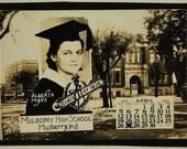 Grad, School Photo, 1936, Miniature  Vintage Photo, Photography