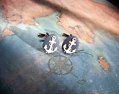 Anchor Cameo Cuff Links