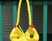 Clearance Sale - Ms. Pacman Crochet Purse with Liner