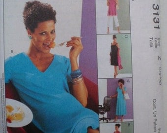 SALE - Women's Maternity Wardrobe Pattern - Misses/Misses Petite Dresses, Tops, Skirt and Pants - McCall's 3131 - Sizes L, XL, Bust 38 - 44