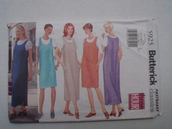 Misses/Misses Petite Jumper Pattern - Butterick 5925 - Size 14-16-18, Bust 36 - 40
