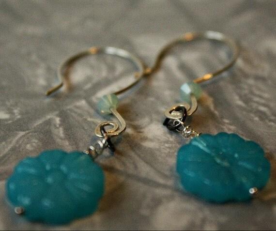 Forget me not, Alaska State flower earrings
