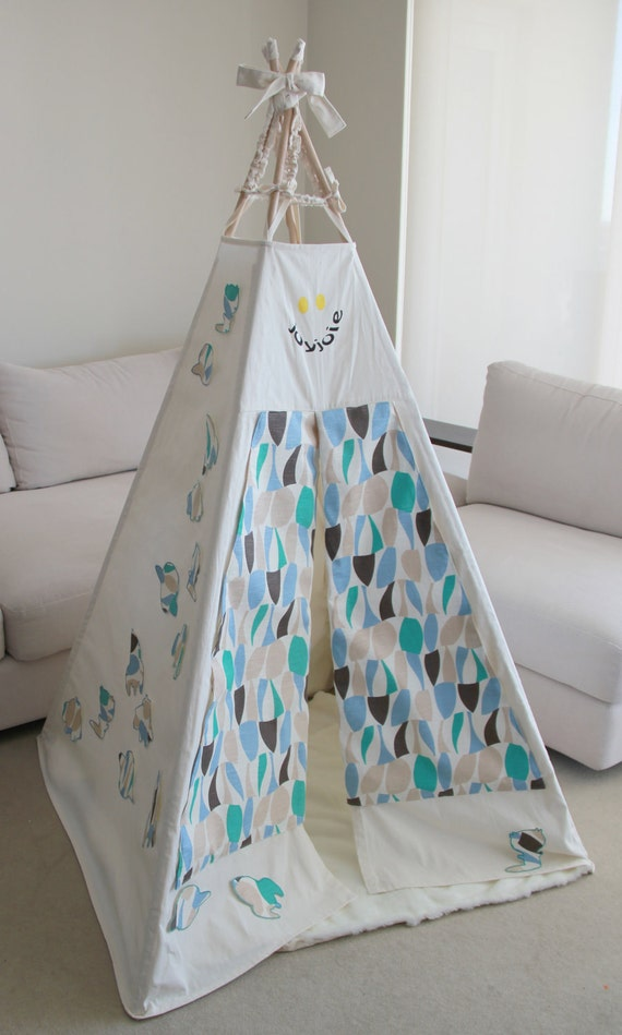 Teepee Child Play with Space Wall Art - As Seen in Studio Bambini