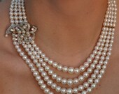 Wedding Bells Upcycled Vintage Necklace