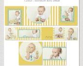 Circus - 3x3 Mini Accordion Album PSD Template Design