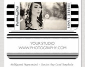 INSTANT DOWNLOAD - Hollywood Peppermint -  Senior Rep Card PSD Template Design