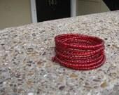 Memories of Ashley Wrap Bracelet in Cherry