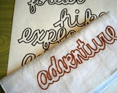 Adventure Words Embroidery Pattern PDF