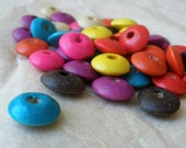 Multi-Colored Wooden Saucer Beads- 200 pcs.