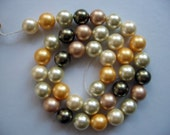 Multicolor South Sea Shell Pearl Beads 10mm