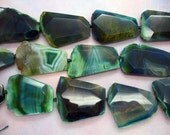 Chunky Beautiful Natural Agate Freeform Faceted Slab Beads