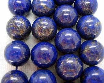 20mm High Quality Lapis Lazuli Round Beads - 16 Inch Strand